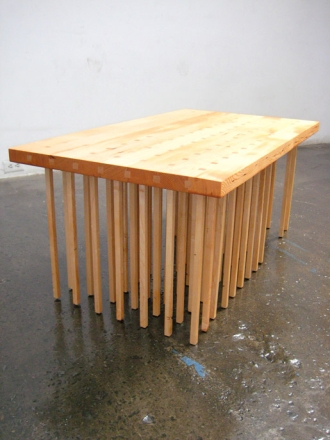Table with 69 legs Share with thanks from http://riiskadesign.com/new-69-leg-table